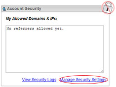 Manage Security Settings