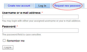 Login Request New Password